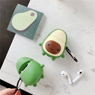 Image of Avocado Shape Silicone AirPods Earphone Case Protection Cover