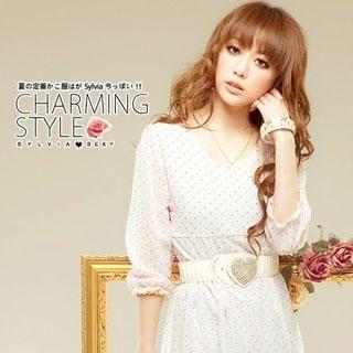 Buy Sylvia 3/4 Sleeve Chiffon Dress Pink – One Size 1022976244