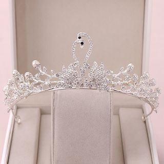 Wedding Faux Pearl Swan Tiara White - One Size