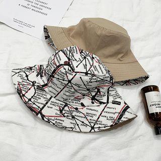 Reversible | Bucket | Khaki | Print | Size | Hat | One
