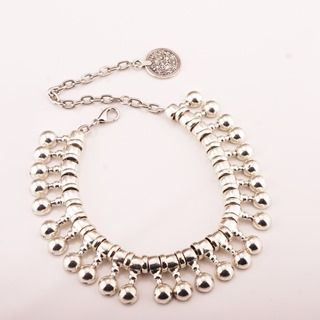 Beaded Coin-Accent Anklet 1048676051