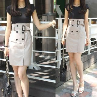 Buy Taam Story High-Waist Belted Dress 1022691465