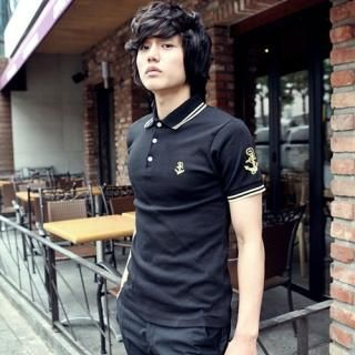 Buy Portfranc Contrast Trim Polo Shirt 1022712374