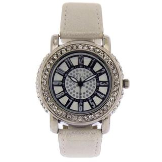 crystal-wrist-watch-white-silver-one-size