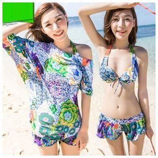 Set: Print Bikini + Beach Cover-Up 1047903570