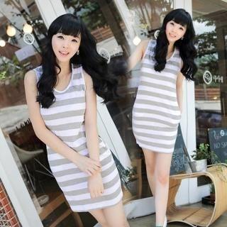 Buy NamuDDalgi Striped Sleeveless Dress 1022988748