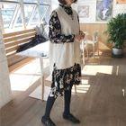 V-Neck Sweater Vest / Floral Print Long-Sleeve A-Line Dress / Set: V-Neck Sweater Vest + Floral Print Long-Sleeve A-Line Dress 1596