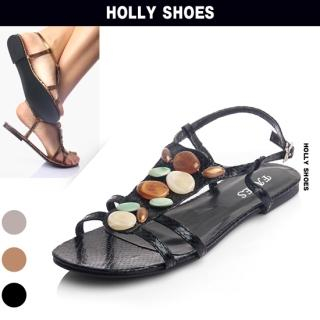 Buy Holly Shoes Beaded Strap Sandals 1022870156
