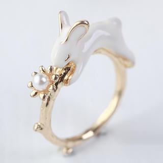 Beaded Rabbit Ring