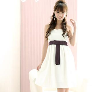 Buy 59 Seconds Contrast Bow-Accent Dress 1021409530