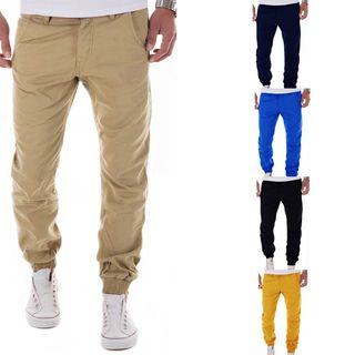Image of Elastic Cuff Cotton Pants