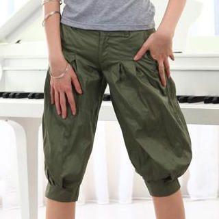 Buy doremi Pleats-Detail Cropped Pants 1022868245