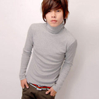 Turtleneck Long Sleeve Top Light Gray от YesStyle.com INT