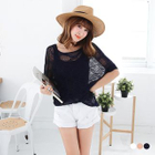 Open Knit Batwing Top 1596