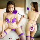 Set: Feather Bra + Thongs 1596
