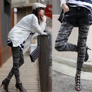 Buy ODDmolly Distressed Leggings 1022826863