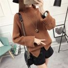 Mock Neck Ribbed Sweater 1596