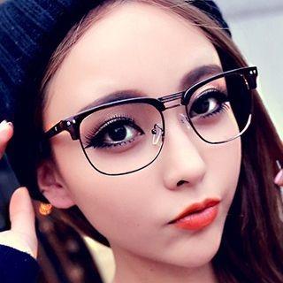 Retro Half Rim Glasses 1049496707