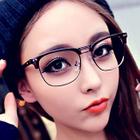 Retro Half Rim Glasses 1596