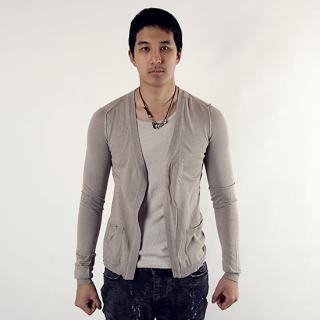 Picture of De Karma Inset Top Open Cardigan 1021929254 (De Karma, Mens Suits, Korea)