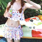 Set: Print Bikini Top + Swim Skirt 1596