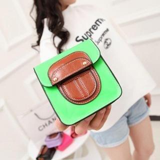 Color-Block Mini Cross Bag