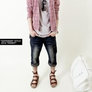 Picture of Groove9 Cropped Jeans 1022798820 (Groove9, Mens Pants, Korea)
