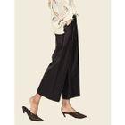 Wide-Leg Faux-Leather Pants 1596