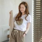 Sequined Smile T-Shirt 1596