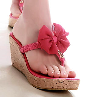 Picture of Kvoll Bow Cork Wedge Mules 1022503218 (Other Shoes, Kvoll Shoes, China Shoes, Womens Shoes, Other Womens Shoes)