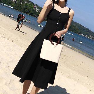 Sleeveless Button-Front Dress 1066350150
