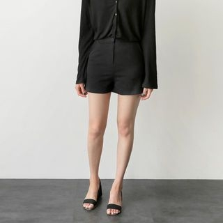 Flat-Front Cotton Shorts 1060123564