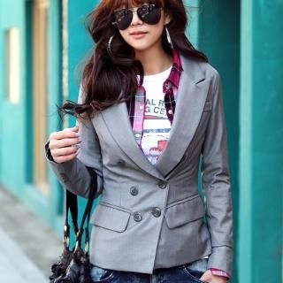 Buy REDOPIN Double-Breasted Blazer 1022459625