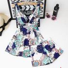 Set: V-Neck Printed Swimdress + Swim Shorts 1596