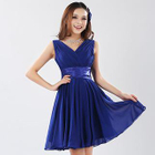Sleeveless A-Line Party Dress 1596