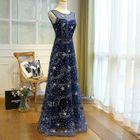 Sleeveless Rhinestone Evening Gown 1596