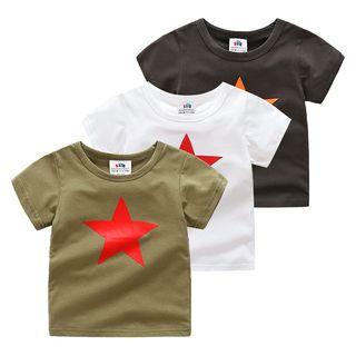 Short-sleeve   T-Shirt   Print   Star   Kid