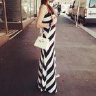 Sleeveless Striped Dress 1596