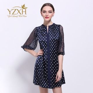 Image of Dotted Sheath Dress
