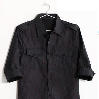 Picture of SERUSH 3/4 Sleeve Stripe Shirt 1022914395 (SERUSH, Mens Shirts, Taiwan)