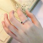 925 Sterling Silver Rhinestone Ring 1596