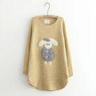 Applique Sheep Long-Sleeve Sweater 1596
