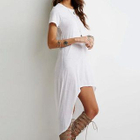 Short-Sleeve Dip-Back Dress 1596