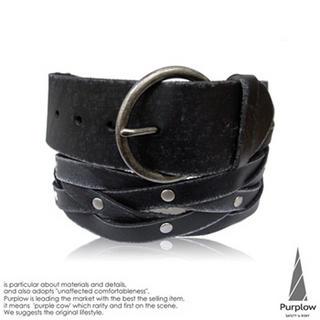 Buy Purplow Ring Buckled Genuine Leather Belt 1004802274
