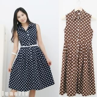 Black  White Polka  Dress on Lunaris Color Blocked Jumpsuit 1021331216   Womens Asian Dresses