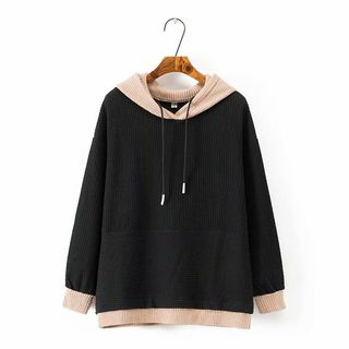 Image of Color Block Hood Sweater