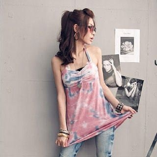 Buy PUFFY Tie-Dye Halter Dress 1022849628