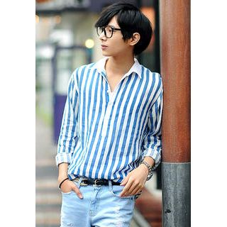 Pinstripe Placket Shirt
