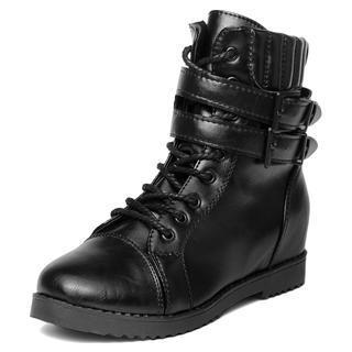 Double-Belt Side-Zip Boots