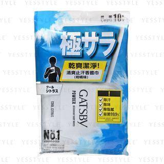 Mandom - Gatsby Power Deodorant Body Paper (Cool Citrus) 10 pcs 1058069343
